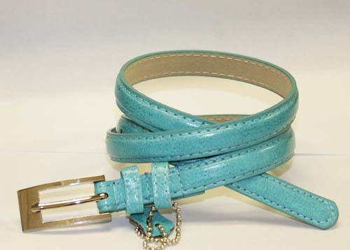.5 Inch Aqua Skinny Belt for Women in Small