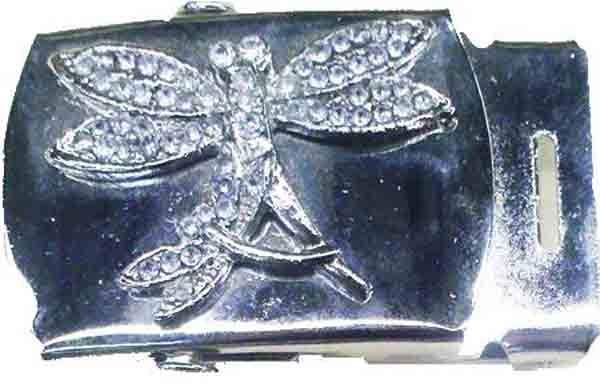 DRAGONFLY CHROME BUCKLE FOR CANVAS MILITARY BELTS (CLONE)