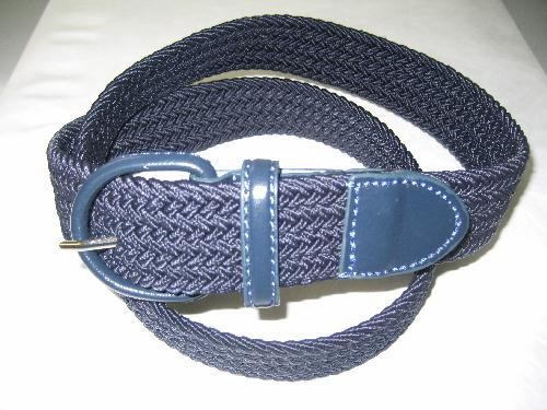 LA-662 NAVY WHOLESALE STRETCH LEATHER BELT, X-LARGE