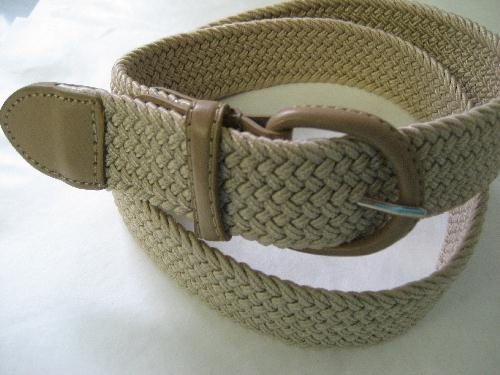 LA-662 BEIGE WHOLESALE STRETCH LEATHER BELT, LARGE