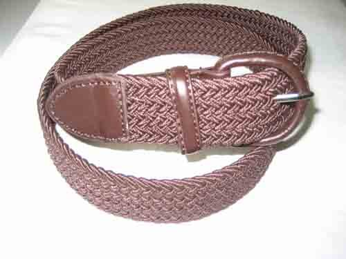 LA-662 BROWN WHOLESALE STRETCH LEATHER BELT, MEDIUM