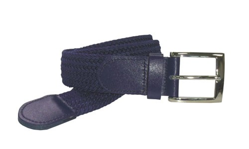 LA-4001-T NAVY WHOLESALE STRETCH LEATHER BELT, MEDIUM