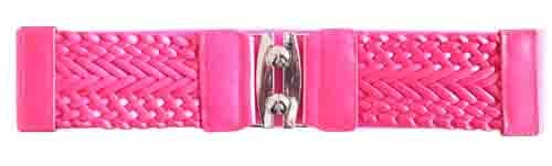 "FUCHSIA 3"" WIDE STRETCH MATERIAL FASHION BELT FOR WOMEN"