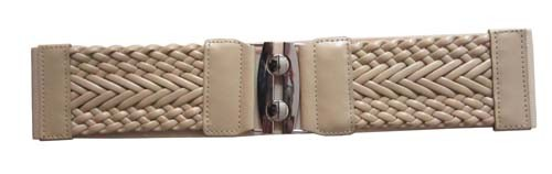 "NATURAL 3"" WIDE STRETCH MATERIAL FASHION BELT FOR WOMEN"