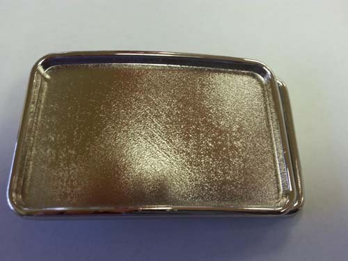 "BU-299 CHROME RECTANGULAR BLANK BELT BUCKLE (2""T & 3"" W)"