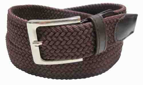 LA-4001-C BROWN WHOLESALE STRETCH LEATHER BELT, SMALL