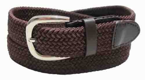 LA-501BR BROWN WHOLESALE STRETCH LEATHER BELT, MEDIUM