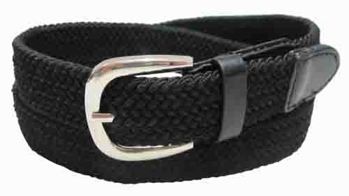 LA-501BK BLACK WHOLESALE STRETCH LEATHER BELT, XXL