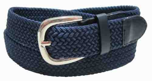 LA-501NB NAVY WHOLESALE STRETCH LEATHER BELT, XXL
