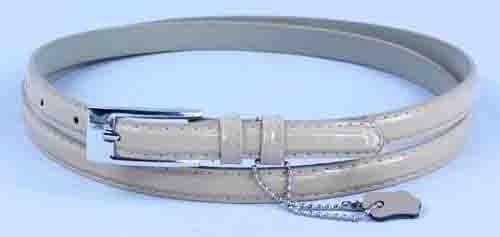 .5 Inch Glossy Nude Skinny Belt for Women in Large
