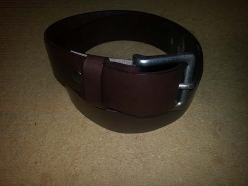 "LA-1300 1.5"" WIDE COWHIDE 8 TO 10 OZ BROWN LEATHER BELT IN 50"""