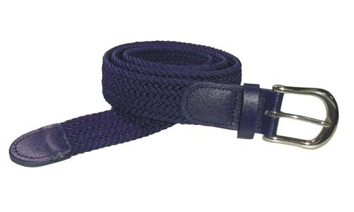 LA-501NB-T NAVY WHOLESALE STRETCH LEATHER BELT, MEDIUM