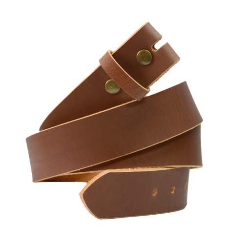 "LA-1375 1.5"" WIDE TAN GENUINE PULLUP LEATHER BELT IN 48"""