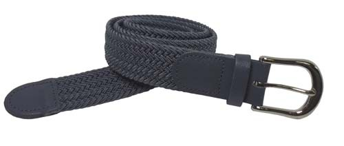 LA-501GY-T GRAY WHOLESALE STRETCH LEATHER BELT, MEDIUM