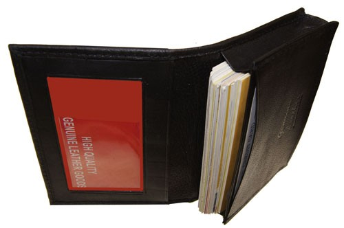 WA-20 LAMBSKIN EXPANDABLE CREDIT CARD HOLDER