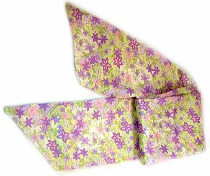 "WN-125 SEAMLESS SATIN 64"" SCARFS IN FLOWERS"