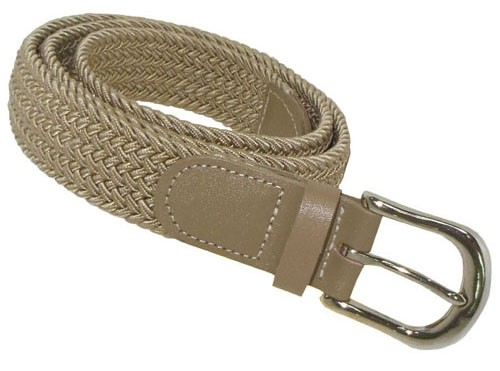 LA-501-T BEIGE WHOLESALE STRETCH LEATHER BELT, LARGE