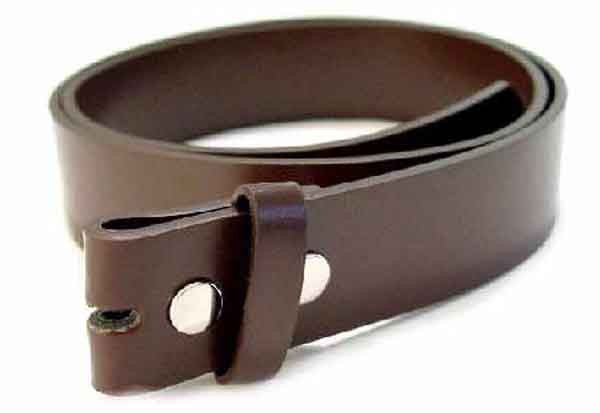 "WN-33 BROWN LEATHER BELT STRAPS W/SNAPS, 3XL/XXXL (50""/52"")"