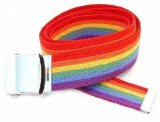 WN-M40 1.25 INCH WIDE MILITARY WEB STRAP MULTI-COLOR RAINBOW