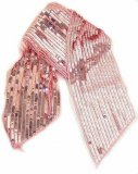 WN-126 SEQUIN SCARF BELT - PINK, ONE SIZE