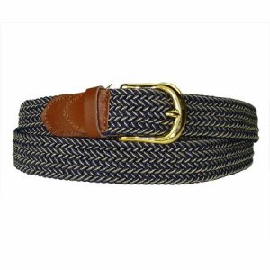 LA-401 NAVY/BEIGE MIX STRETCH BELT, LARGE (38/40)